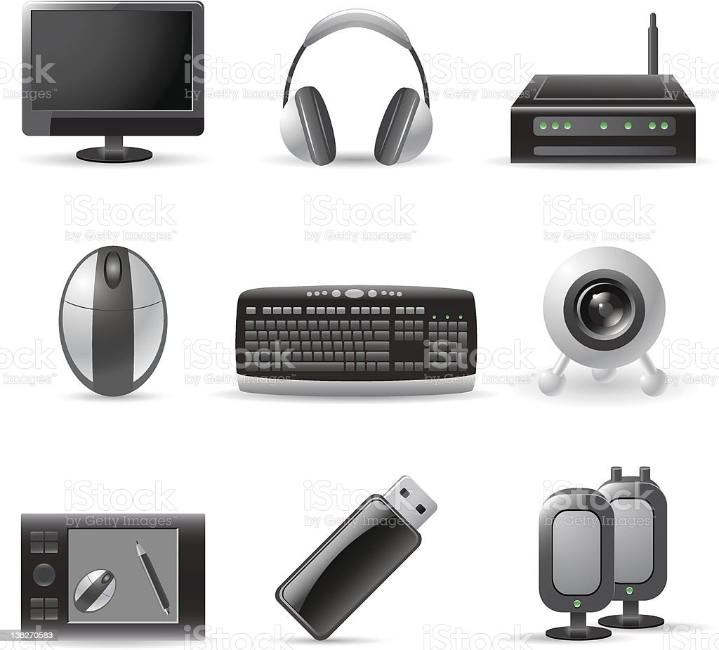 computer device icons royalty-free stock vector art