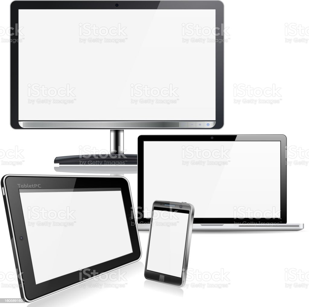 Computer Devices royalty-free stock vector art