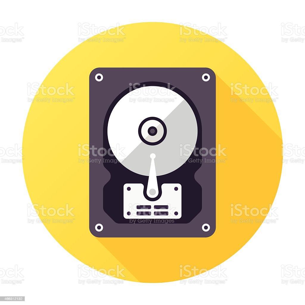 Computer Disk Icon vector art illustration