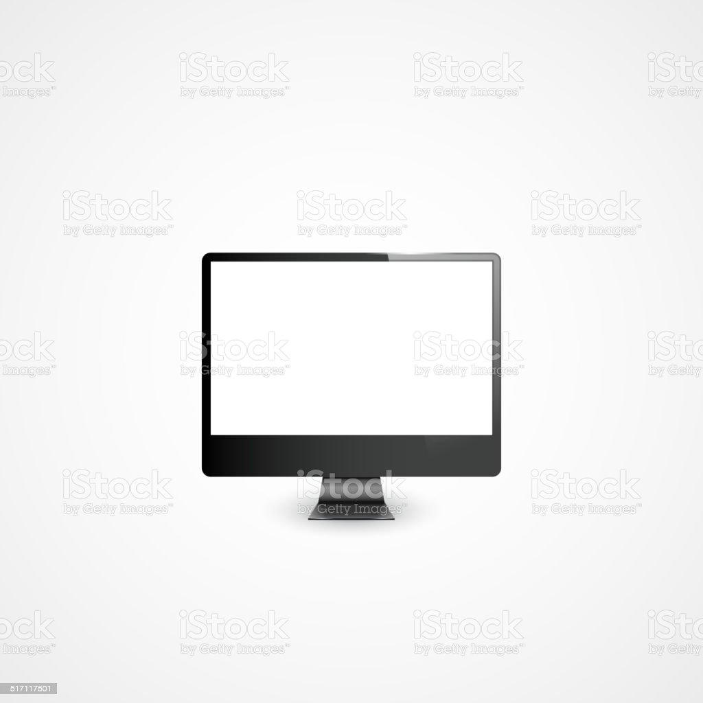 Computer Display Illustration vector art illustration