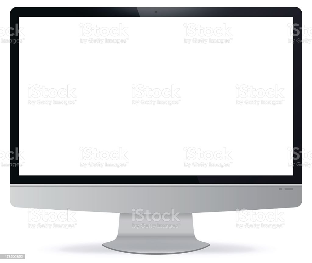 Computer Display vector art illustration