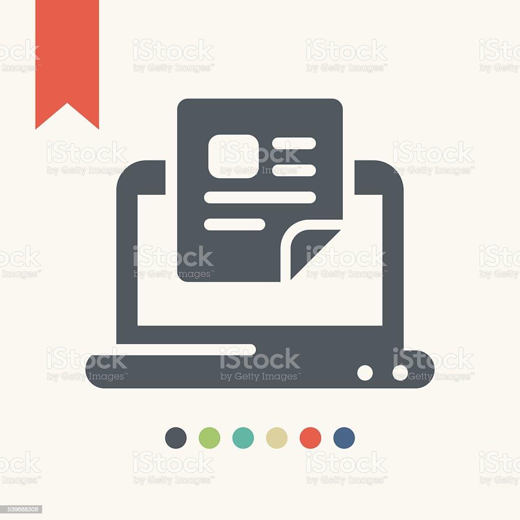 Computer document icon vector art illustration