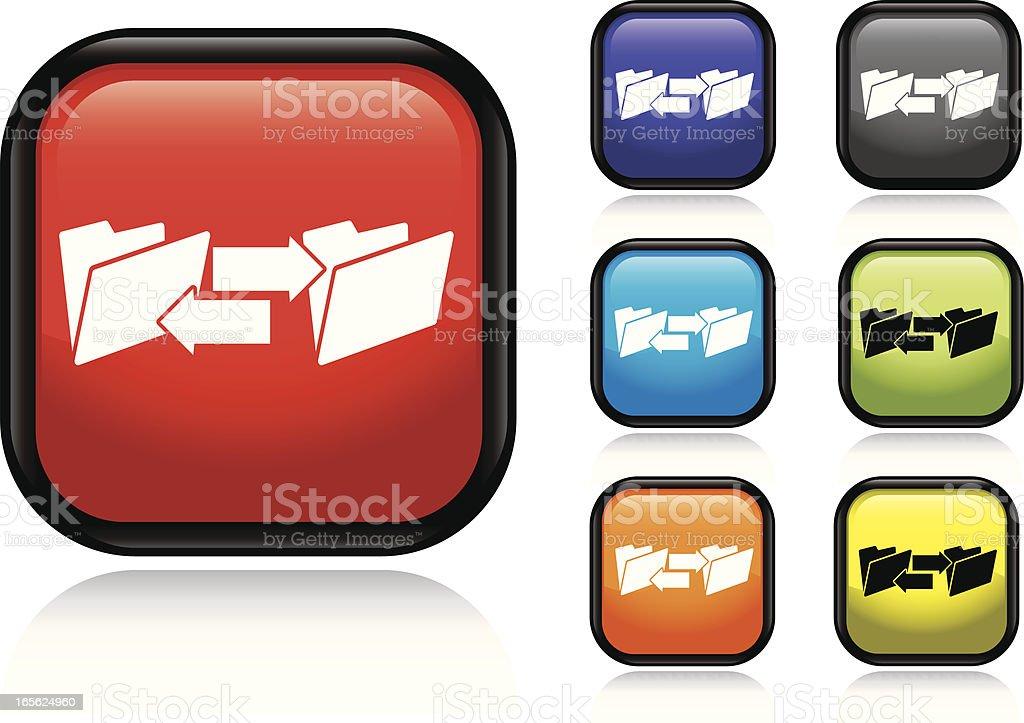Computer Folder Transfer Icon royalty-free stock vector art