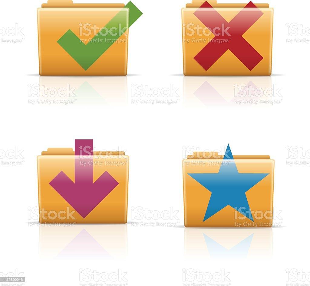 Computer Folders royalty-free stock vector art