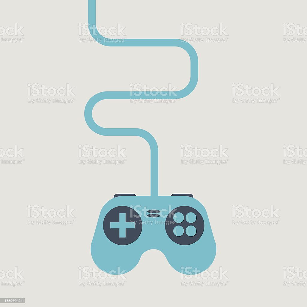 Computer game controller vector art illustration