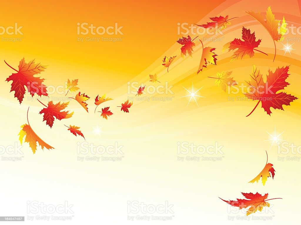 Computer generated image of leaves blowing in the fall royalty-free stock vector art