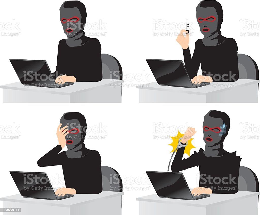 Computer Hacker royalty-free stock vector art