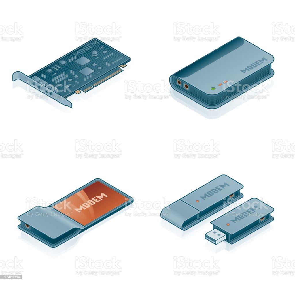Computer Hardware Icons Set. Design Elements royalty-free stock vector art