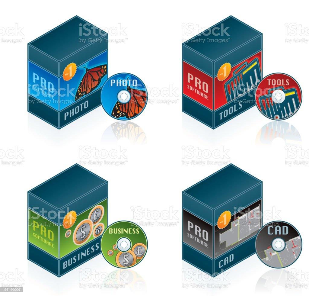 Computer Hardware Icons Set. Design Elements vector art illustration