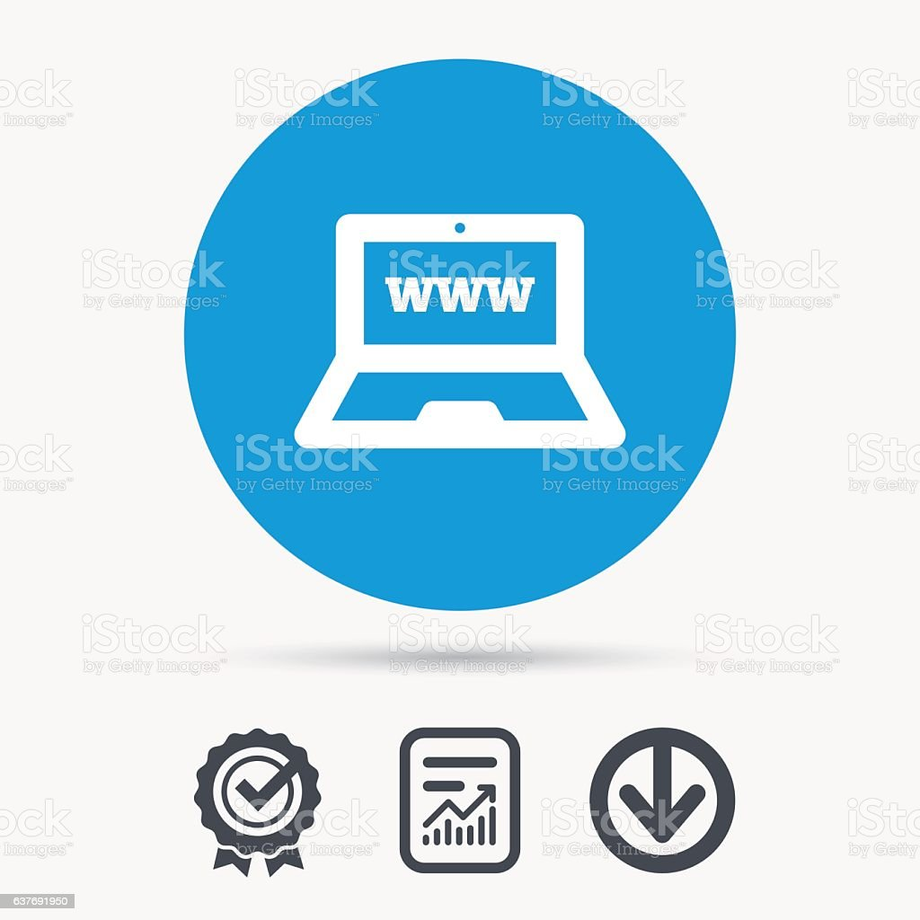 Computer icon. Notebook or laptop pc sign. vector art illustration