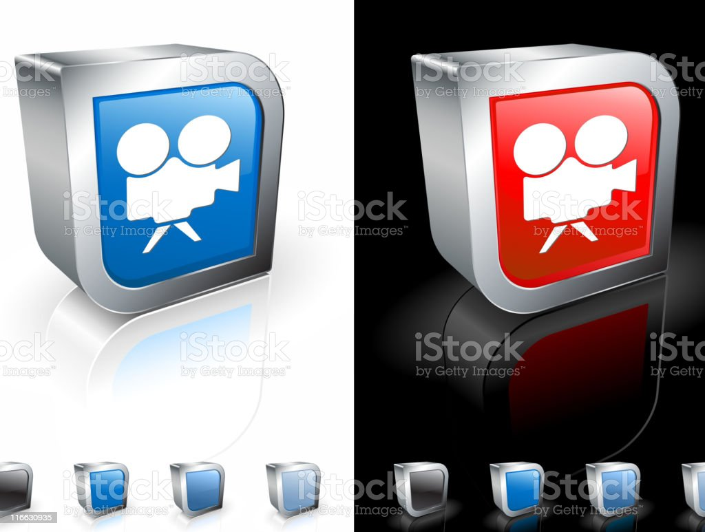 A computer icon of a movie camera royalty-free stock vector art