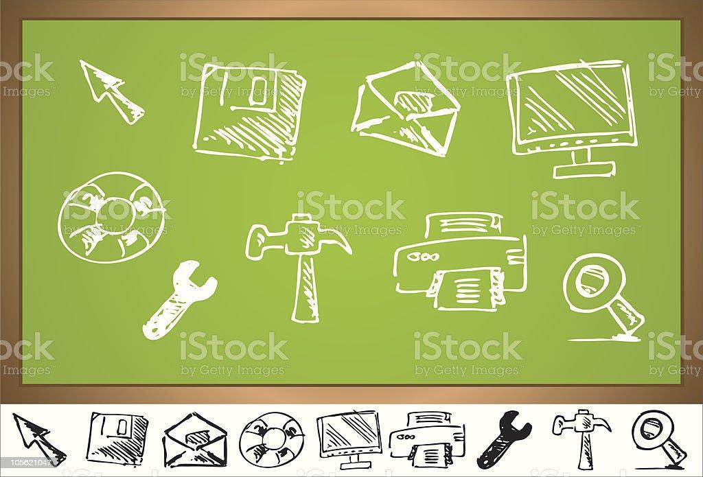 computer icon set royalty-free stock vector art
