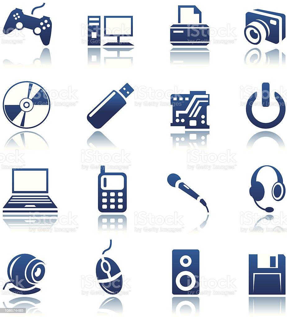 Ensemble d'icônes d'ordinateur stock vecteur libres de droits libre de droits
