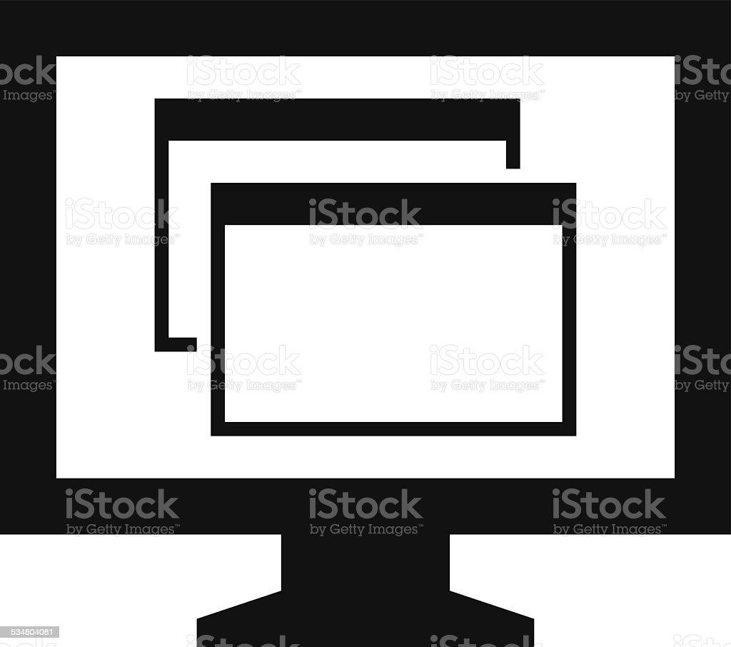 Computer icon vector art illustration