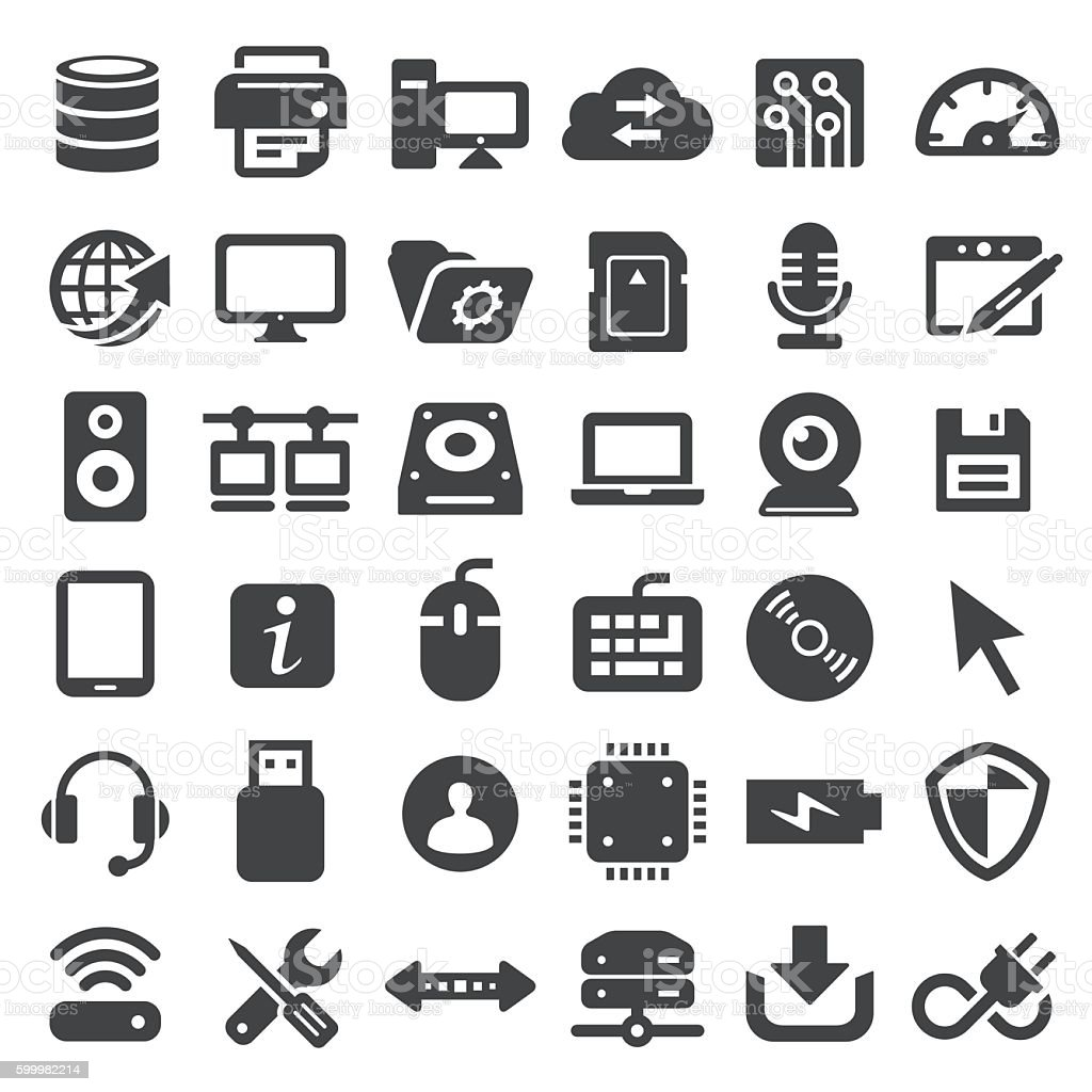 Computer Icons - Big Series vector art illustration