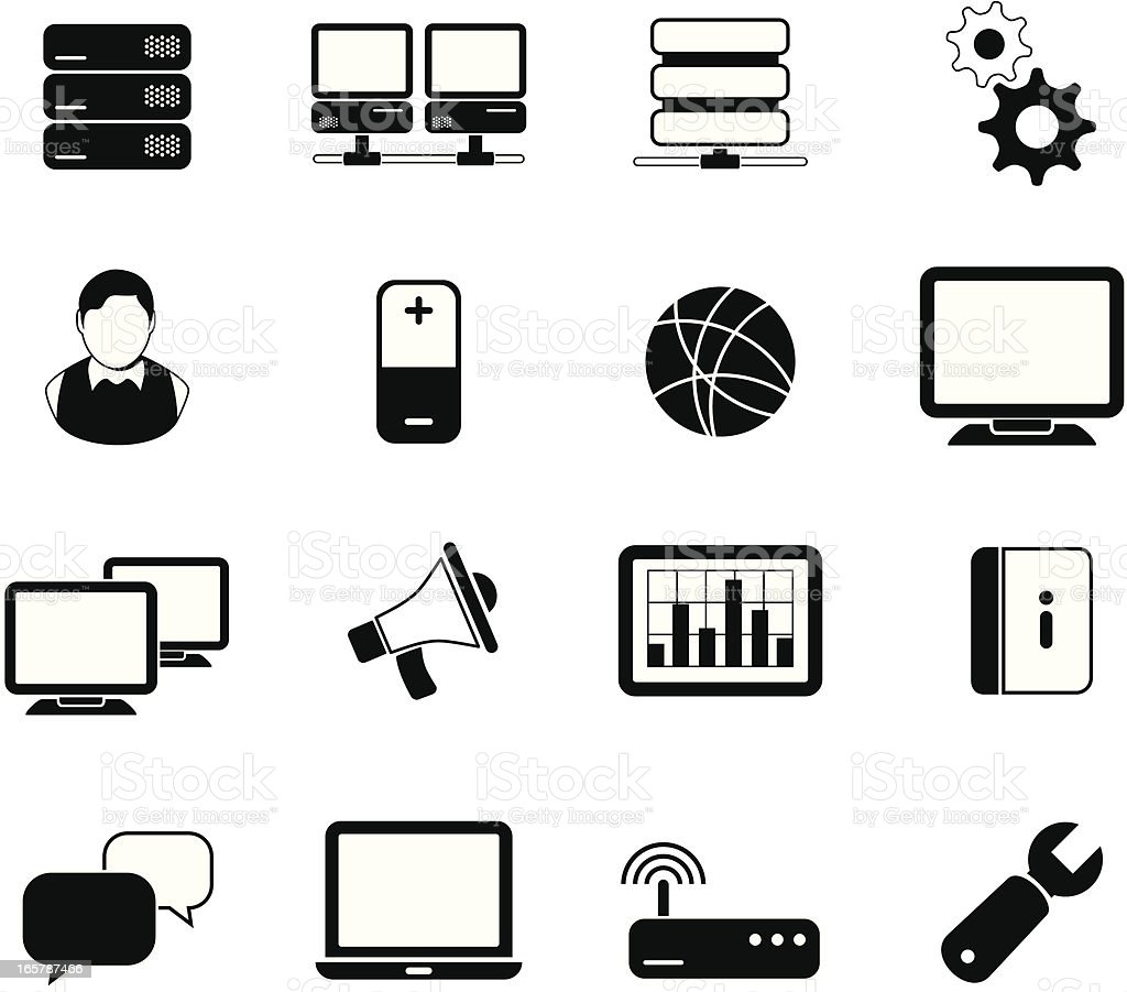 Computer icons black royalty-free stock vector art