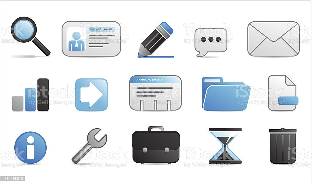 computer icons blue and black color royalty-free stock vector art