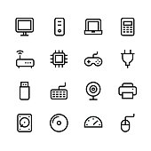 Computer icons - line - black series