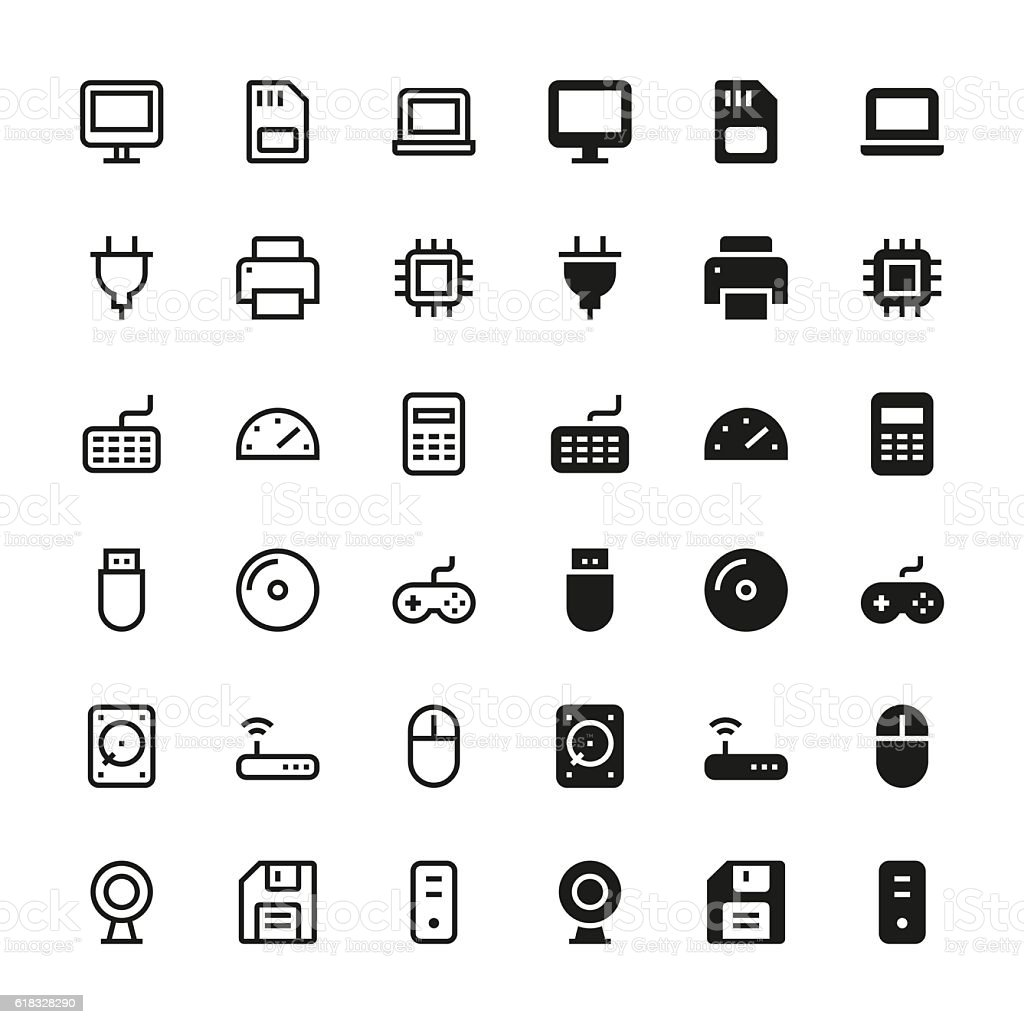Computer icons - Medium vector art illustration
