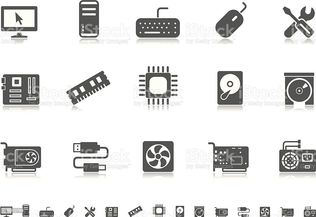 Computer icons | Pictoria series vector art illustration