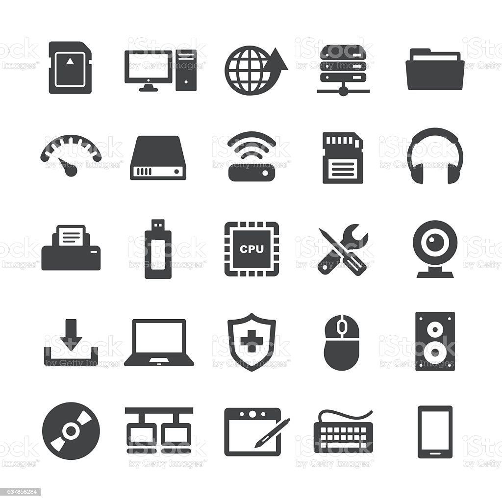Computer Icons Set - Smart Series vector art illustration
