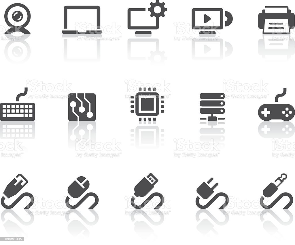 Computer Icons | Simple Black Series vector art illustration
