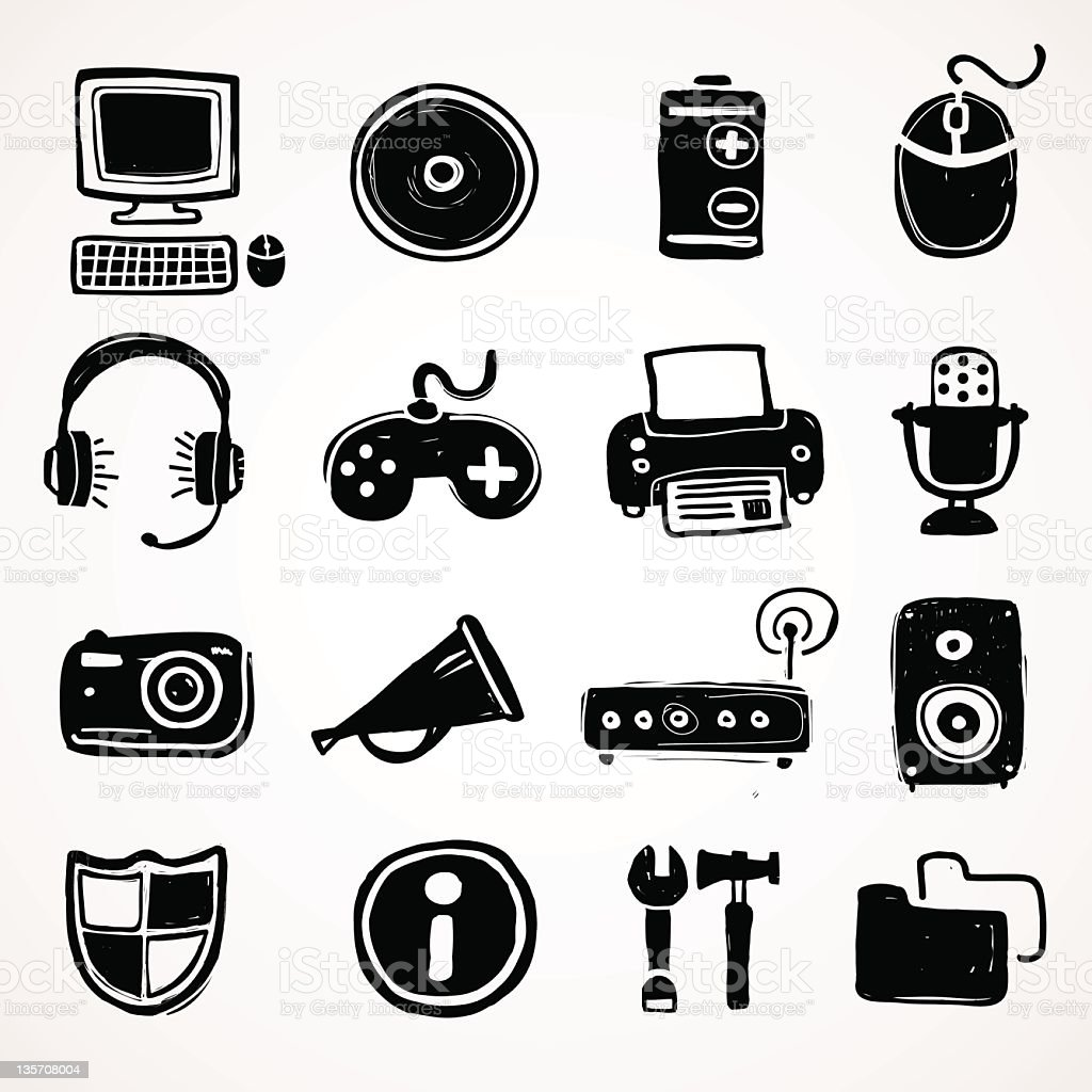 Computer icons royalty-free stock photo