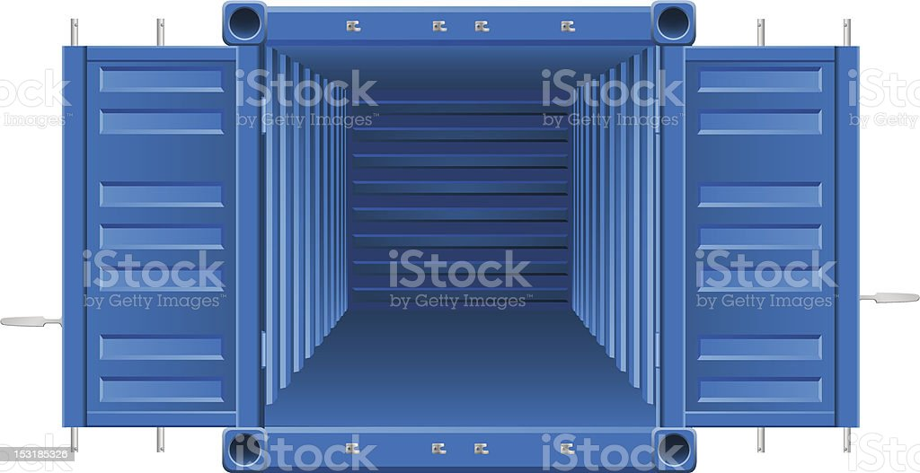 Computer illustration of a cargo container vector vector art illustration