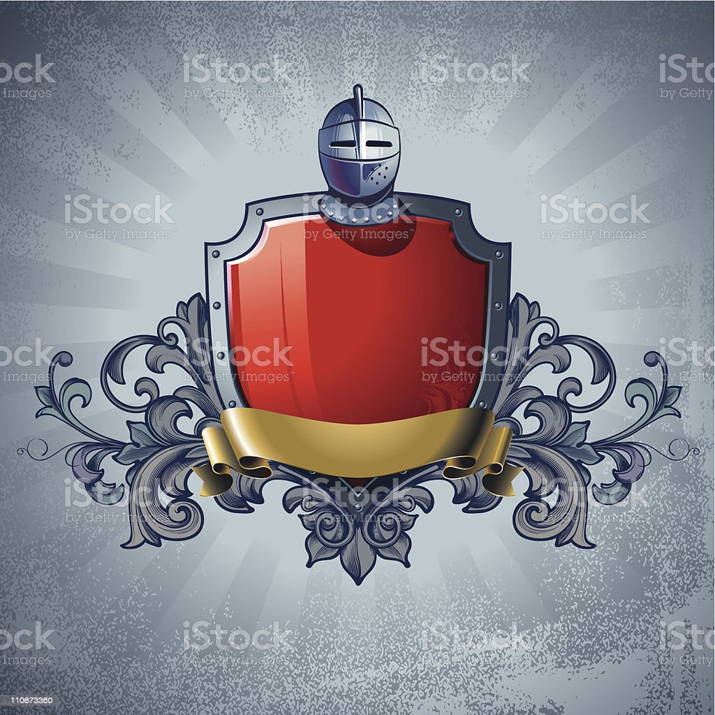 A computer illustration of a medieval coat of arms royalty-free stock vector art