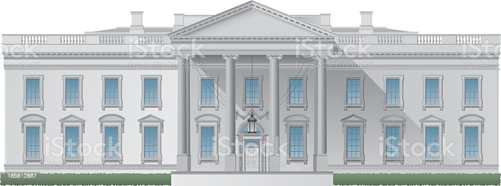 Computer image of the White House royalty-free stock vector art