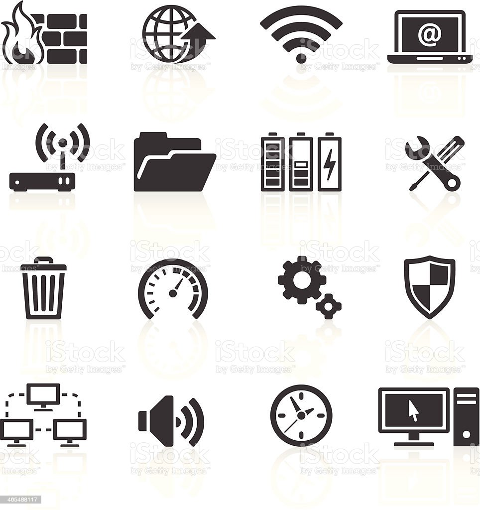 Computer & Internet Icons vector art illustration