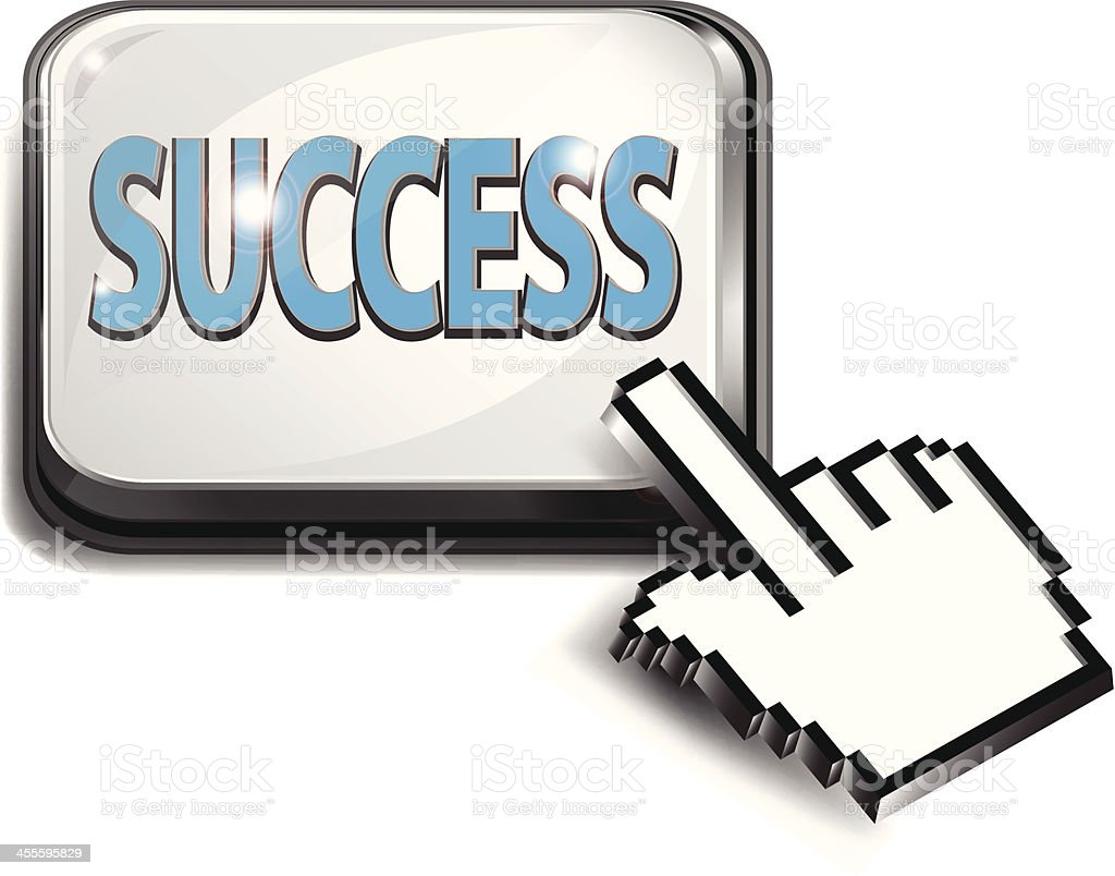 Computer Key | Success with Hand Cursor royalty-free stock vector art
