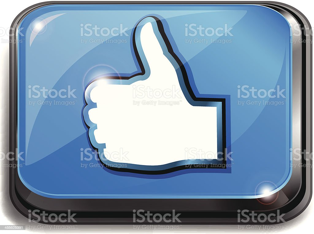 Computer Key | Thumbs Up royalty-free stock vector art