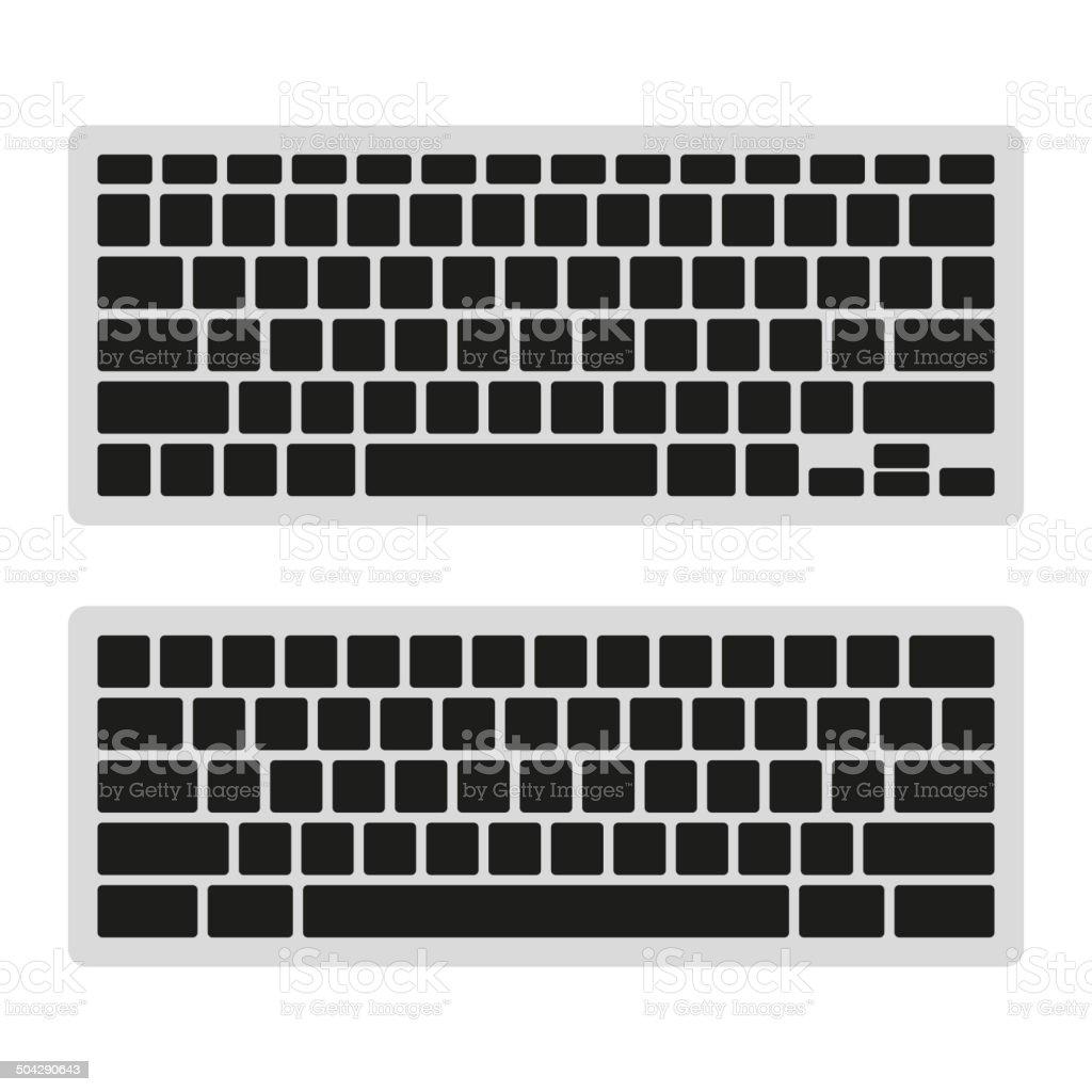 Computer Keyboard Blank Template Set. Vector royalty-free stock vector art