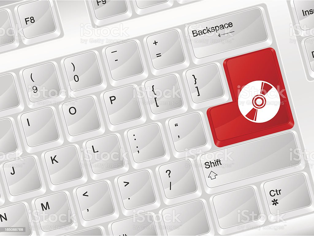 computer keyboard CD symbol royalty-free stock vector art