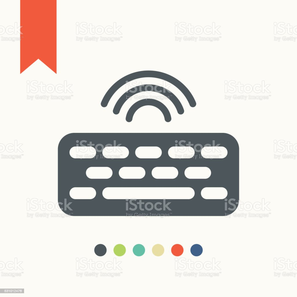 Computer keyboard icon vector art illustration