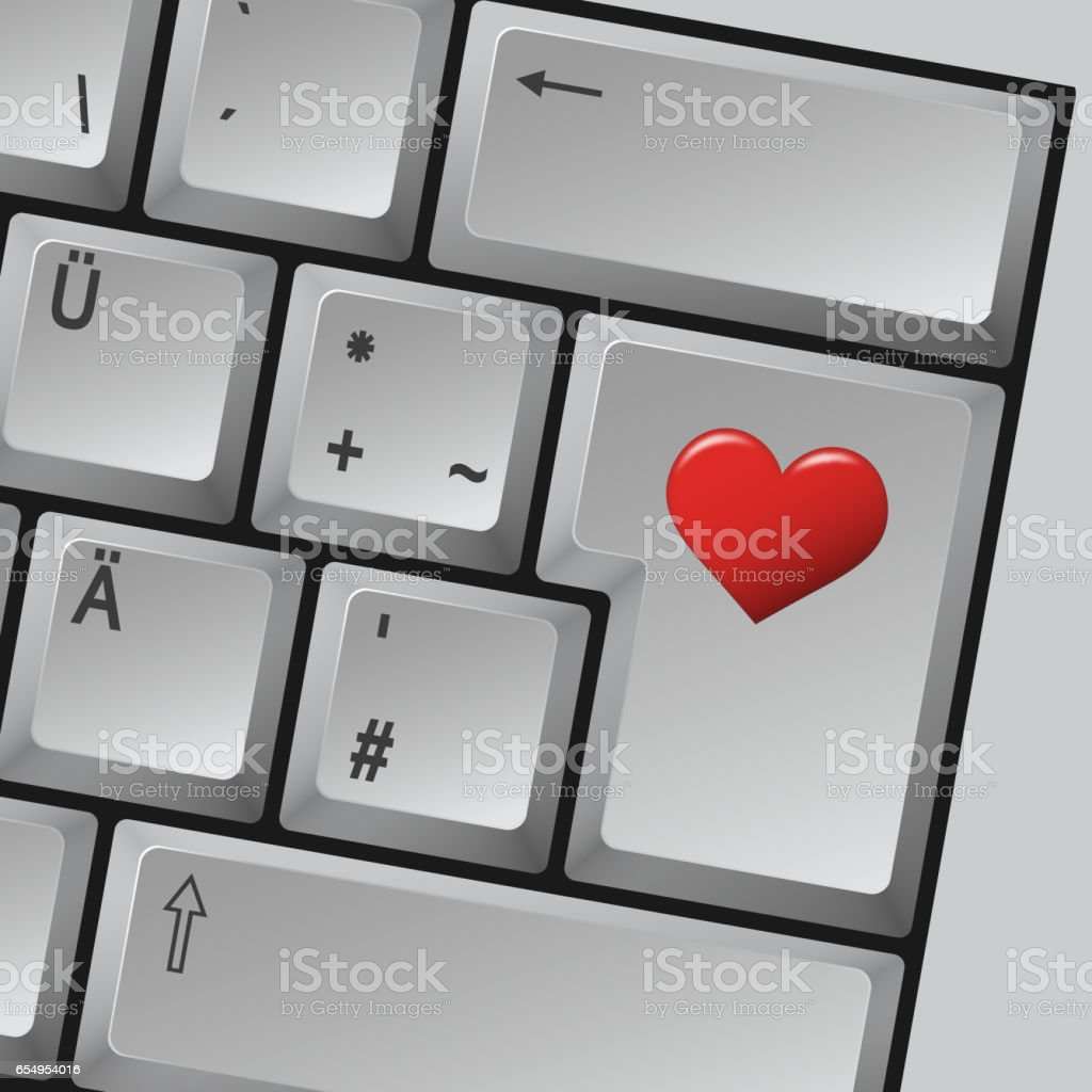 Computer Keyboard Love Stock Vector Art 654954016 Istock