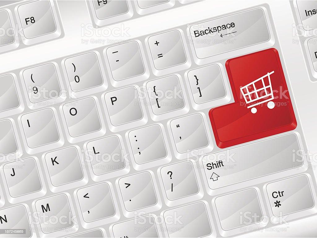computer keyboard shopping symbol royalty-free stock vector art