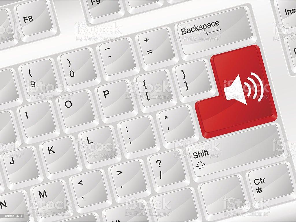 computer keyboard sound symbol royalty-free stock vector art