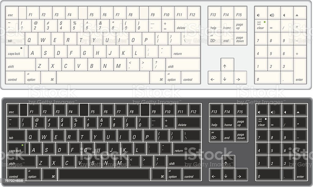 Computer Keyboard vector art illustration