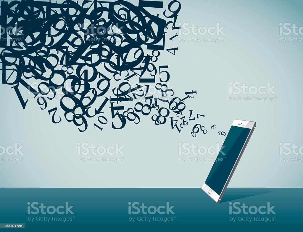 Computer Language vector art illustration