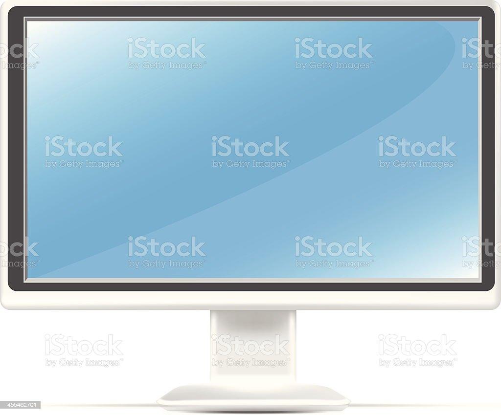 Computer Monitor   HDTV royalty-free stock vector art