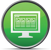 Computer Monitor icon on a round button. - SlenderSeries