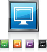 Computer Monitor icon on square buttons. - SquaredSeries