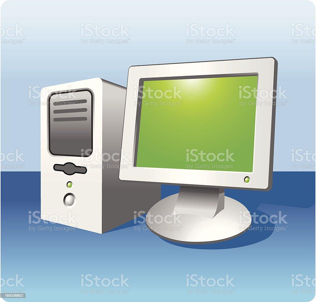 Computer & Monitor royalty-free stock vector art