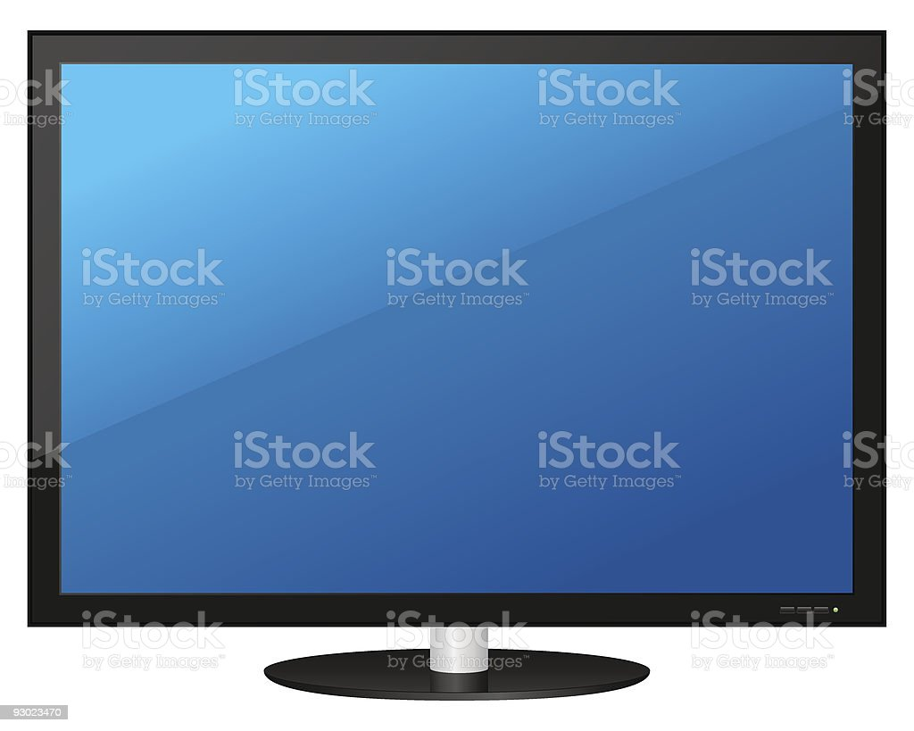 Computer monitor royalty-free stock vector art