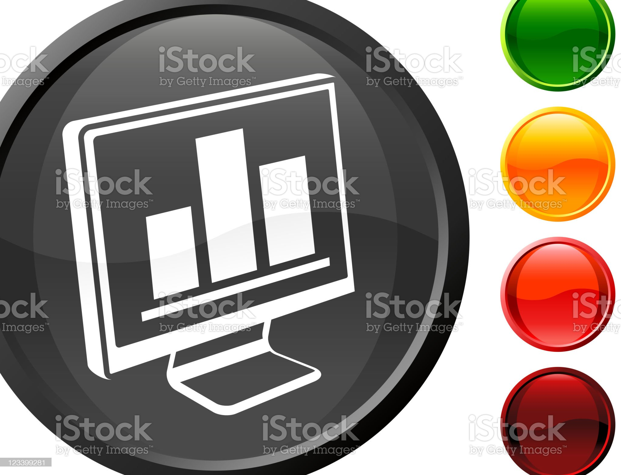 computer monitor with bar graph internet royalty free vector art royalty-free stock vector art