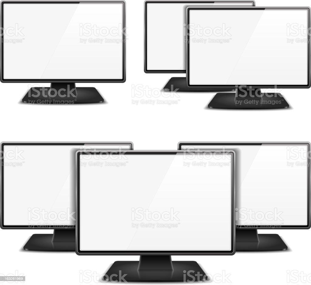 Computer Monitors royalty-free stock vector art