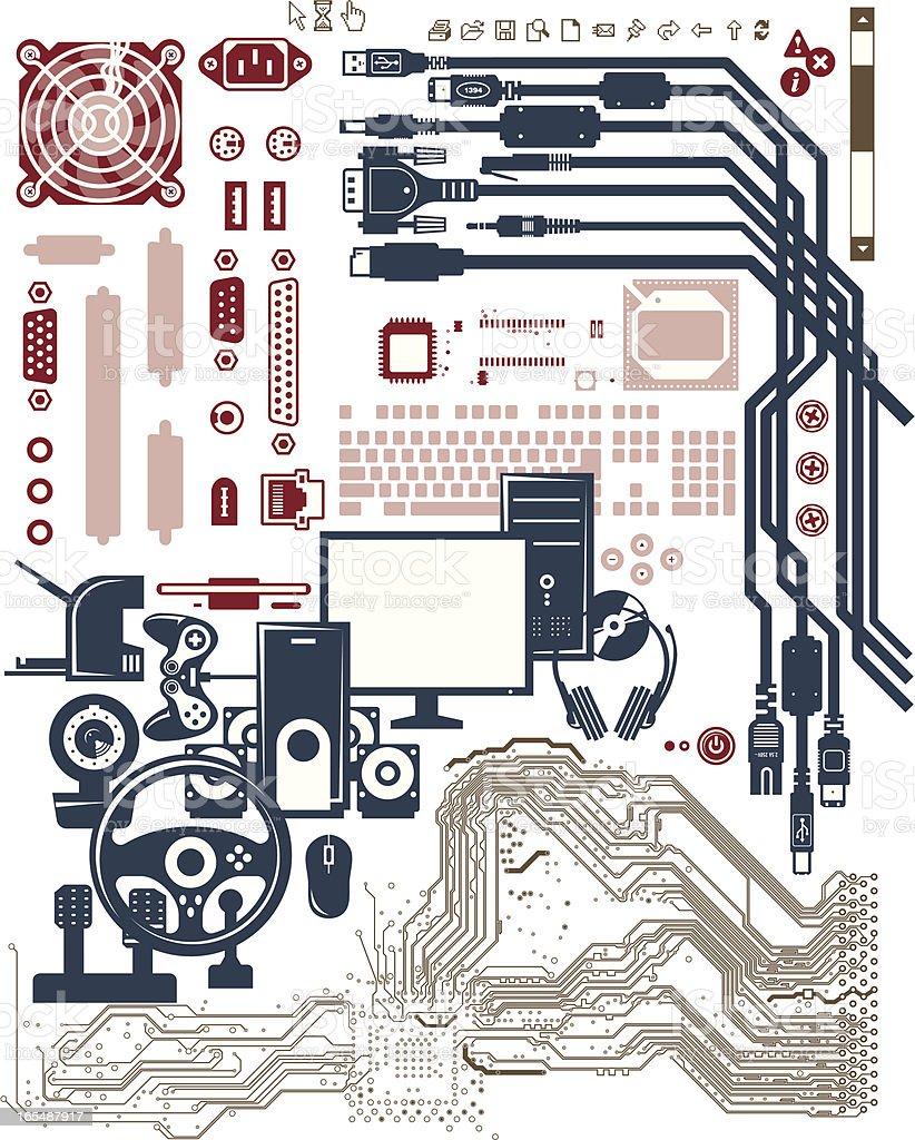 computer multimedia shapes royalty-free stock vector art