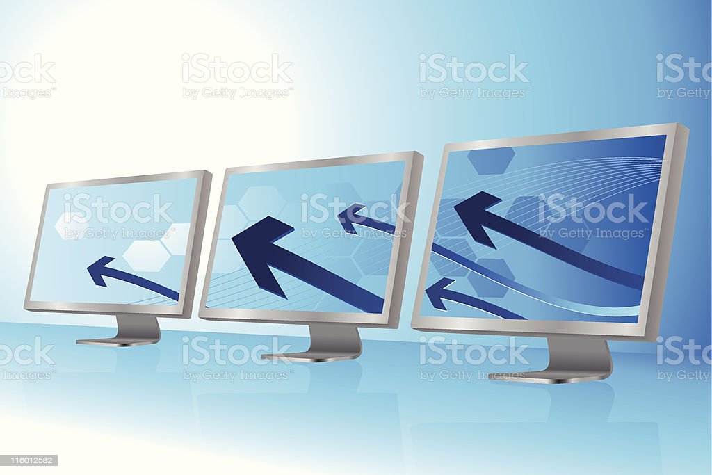 Computer network Background royalty-free stock vector art